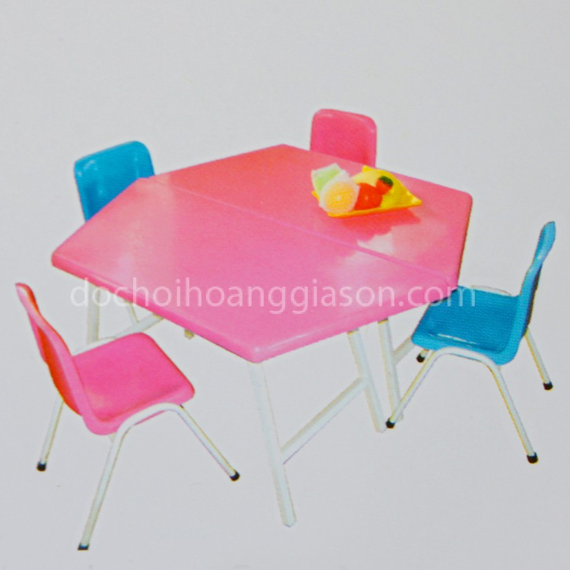 bàn ghế nhựa lục giác