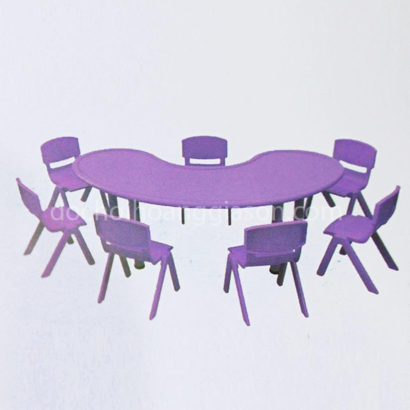 BG2305 - Bàn ghế nhựa vòng cung