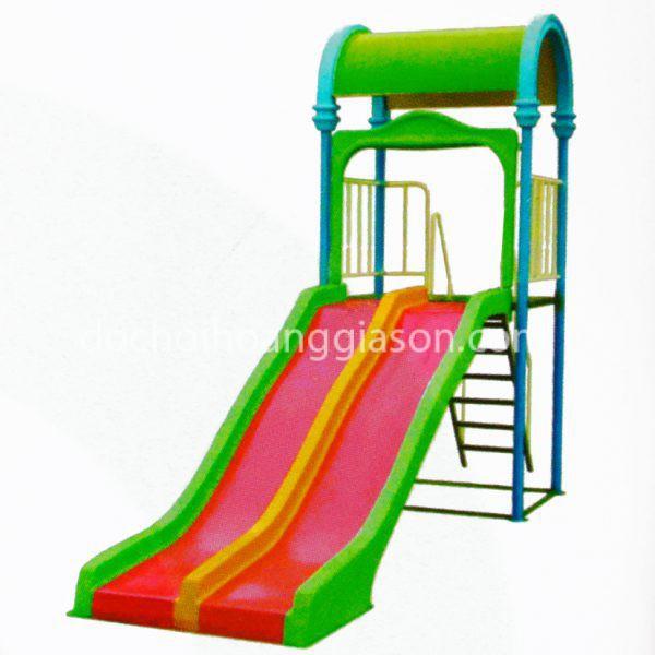 CT0733 - Cầu trượt máng đôi vòm mái