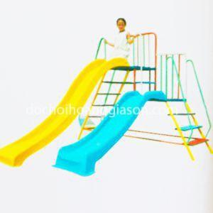 CT0732 - Cầu trượt máng cao máng thấp