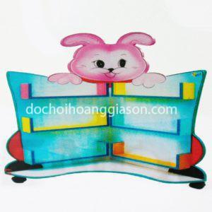 kệ thư viện thỏ góc