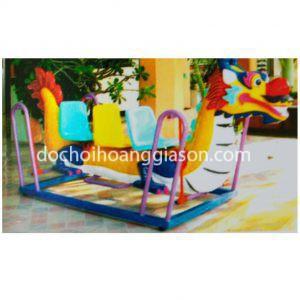 XĐ0809 - Xích đu thuyền rồng 3 ghế